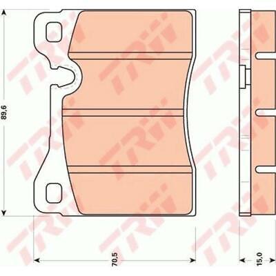 TRW Bremsbeläge GDB270 Bremsklötze für Lamborghini Countach 162B