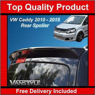 VW CADDY & MAXI VAN 10-15 REAR TWIN DOOR SPOILER PU QUALITY NOT CHEAP FIBREGLASS