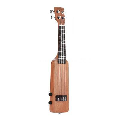 "ammoon 21"" Okoume Solid Wood Body Electric Ukulele Ukelele Uke with Bag Y4U2"