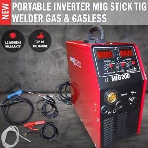 p Portable Inverter Mig Stick Tig Welder Gas & Gasless Ballarat Central Ballarat City Preview