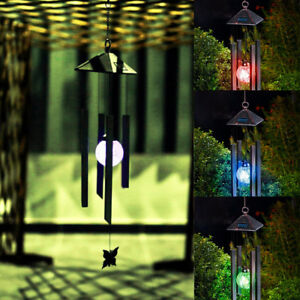 Nice Deco Wind Chimes Solar Powered Colour Changing Led Light Garden Windchimes
