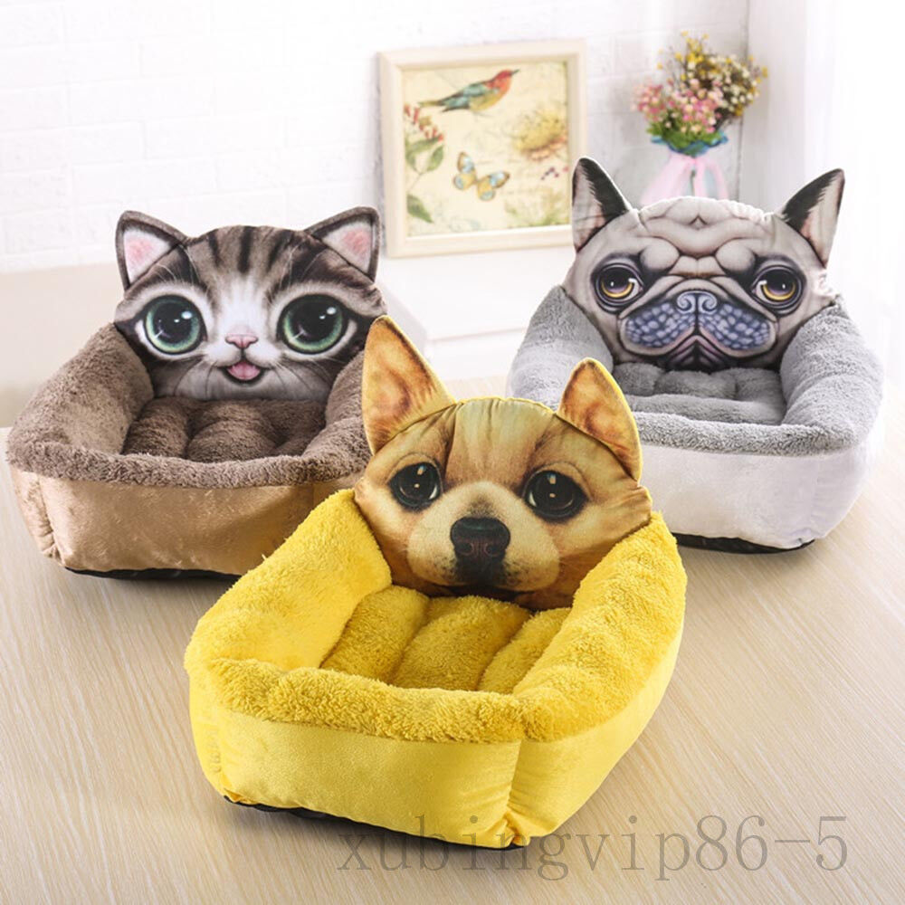 Cartoon Style Super Soft Warm Pet Dog Cat Bed Kennel Mat Pad Washable fancy new