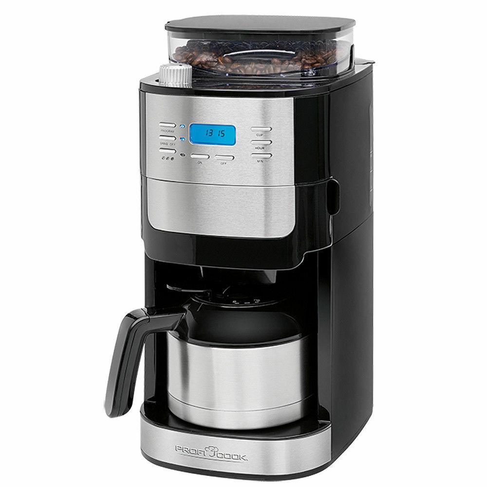ProfiCook Thermo-Kaffeeautomat mit Mahlwerk PC-KA 1137 inox Kaffeemaschine