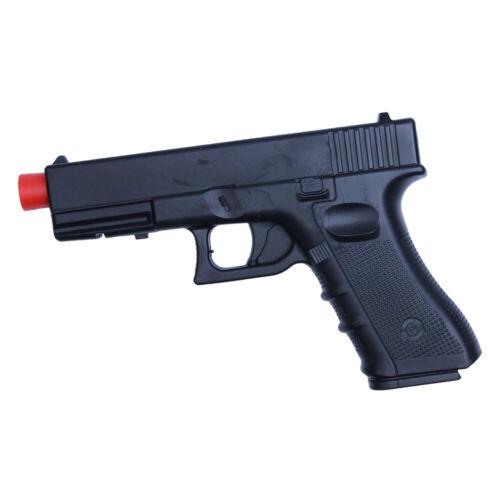 """Black Practice Training Gun Polypropylene Glock Rubber Plastic 17 9"""""""