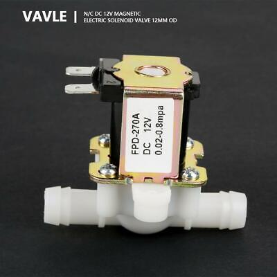 Dc12v Od12mm Electromagnetic Valve Normally Closed Water Inlet Flow Switch Fz