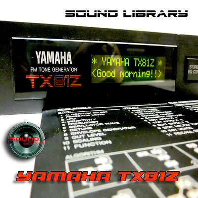 YAMAHA TX81Z HUGE Original Factory & New Created Sound Library/Editors on CD  for sale  Shipping to India