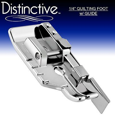 """Distinctive 1-4"""" Quilting/Sewing Machine Presser Foot with Guide + Free Shipping"""