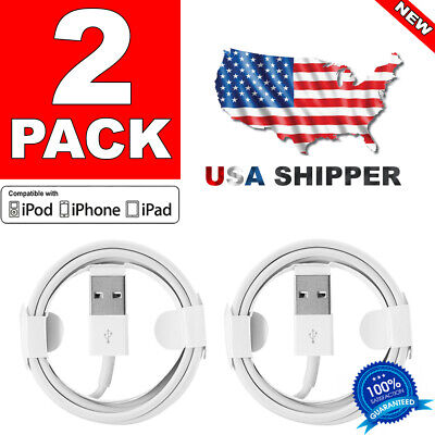 🍏2-Pack Lightning Charging Cable Charger Cord for iPhone 5 6 6S 7 8 X XR XS