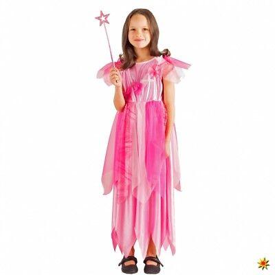 Kinderkostüm rosa Fee Jasmin 104- 128 Kleid Prinzessin Fasching Märchen
