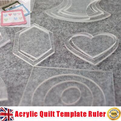 54pcs Acrylic Quilting Template Ruler Quilting Tool Patchwork Craft DIY Creative