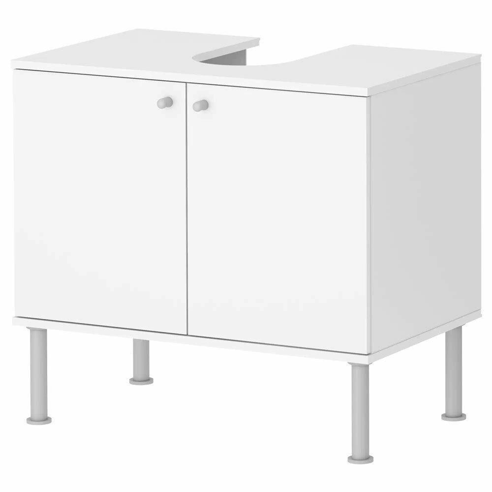 Waschbeckenunterschrank Weiß Waschtisch Unterschrank Badezimmer Badmöbel 2 Türen