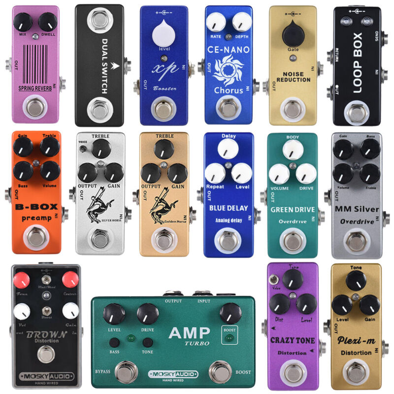 Mosky Audio Guitar Effect Pedal Series Distortion Overdrive Buffer Delay Reverb