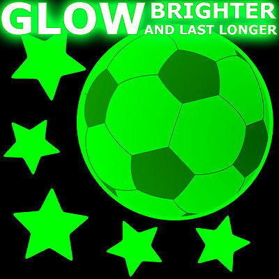 GLOW IN THE DARK FOOTBALLS Bedroom Wall Stickers door ceiling soccer balls stars - Soccer Ball Glow In The Dark