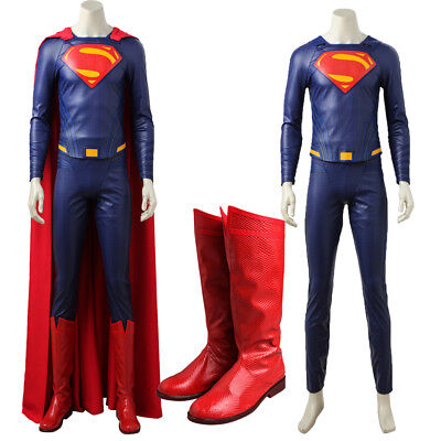 Justice League Superman Cosplay Costume Clark Kent Superhero Costume With Shoes](Superman Custom Costume)