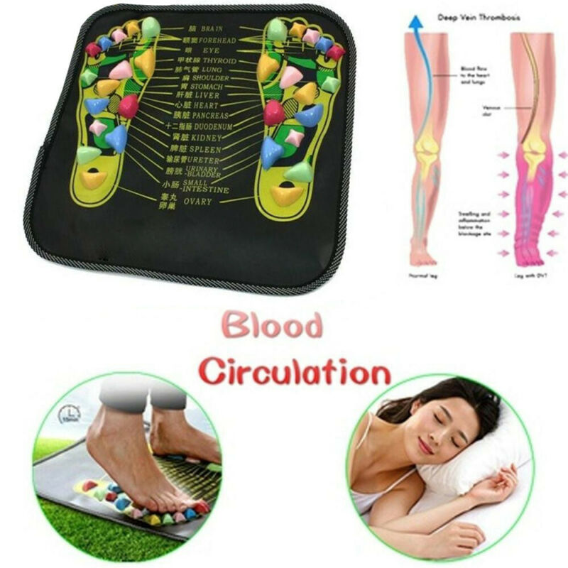 Reflexology Walk Stone Foot Leg Pain Relieve Relief Walk Mas
