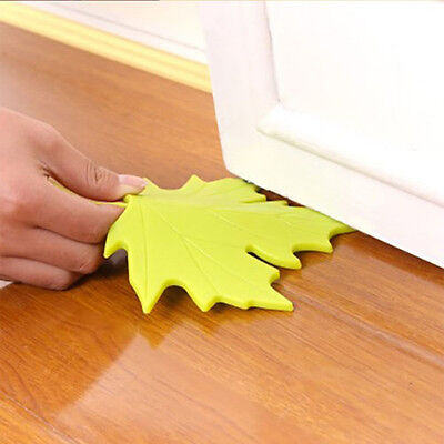 New Hot Autumn Leaf Style Home Decor Finger Safety Door Stop Stopper Doorstop