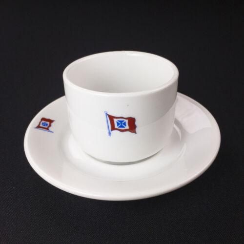 Fearnley & Eger Oslo Norway Shipping Steamship Cup & Saucer Porsgrund c. 1970s