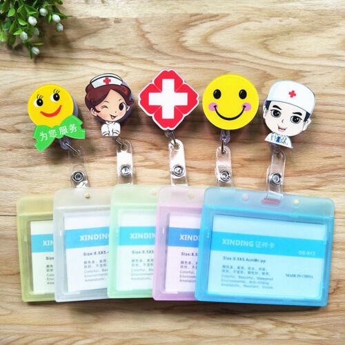 Heavy Duty Retractable Reel Badge ID Holder Belf Clip Nurse Name Card RRSKHG