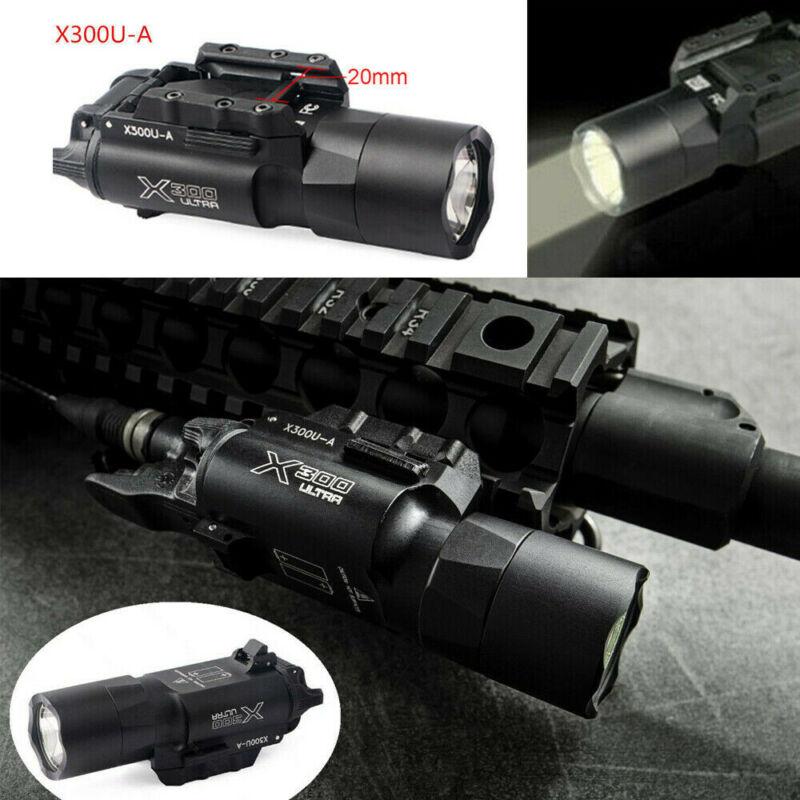 Ultra X300U 500LM LED Flashlight 20mm Picatinny Rail Torch for rifle Pistol gun