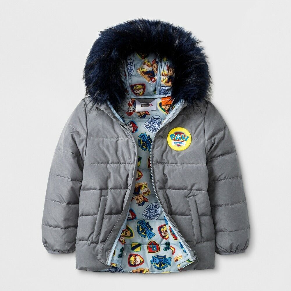 NEW Baby Boys' Paw Patrol Down Parka – Grey 18M Baby
