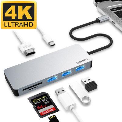 Aluminum Usb Type C 7In1 Hub Adapter 4K Hdmi Card Reader Usb 3 0 Pd Charging