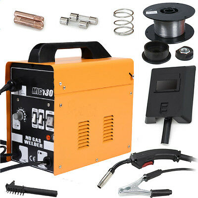 Mig 130 Welders Gas Less Flux Core Wire Automatic Feed Welding Machine 110v