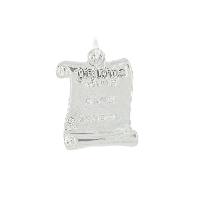 STERLING SILVER DIPLOMA CHARM OR PENDANT