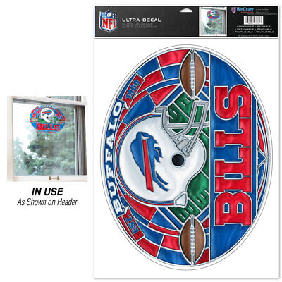 New NFL Buffalo Bills Football Team Stained Glass Ultra Decal 11