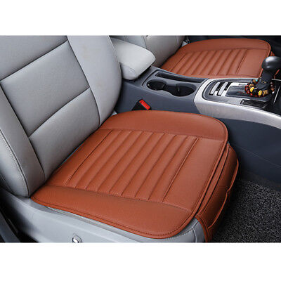 - PU Leather&Bamboo Charcoal Seat Cover Car Breathable Front Cushion Orange Mat