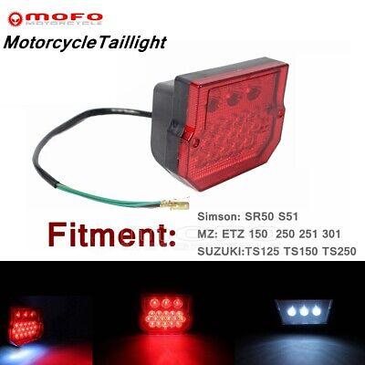 E15 Standard LED License Plate Lamp Taillight For Simson SR50 S51 MZ ETZ 150 250