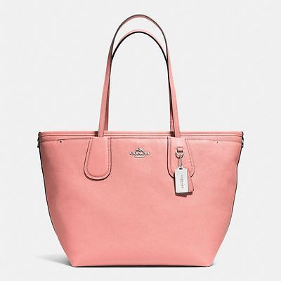 NWT Coach Taxi Pink Crossgrain Leather Baby Diaper Bag Tote New 34522  ($495)