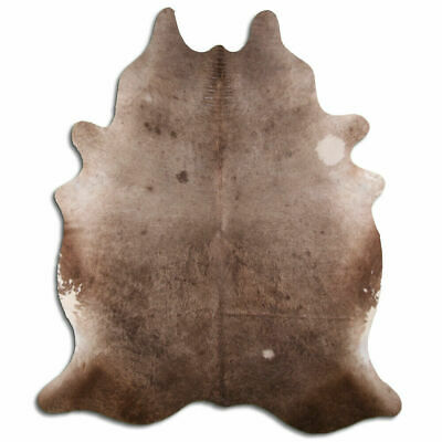 Alfombra de piel de vaca real Palomino tamaño 6 por 7 pies,...