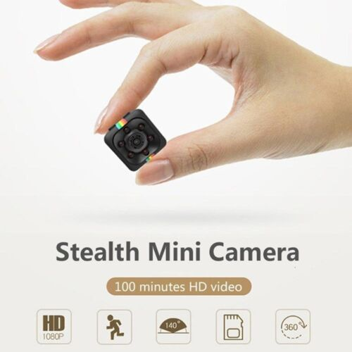 Hidden Spy Mini Security Camera Motion Activated Night Vision HD Surveillance