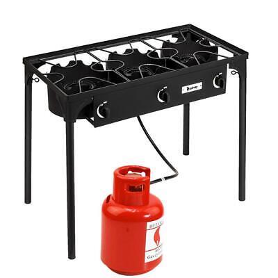 Professional Outdoor Stove Propane Burner - Portable 3 Cooke