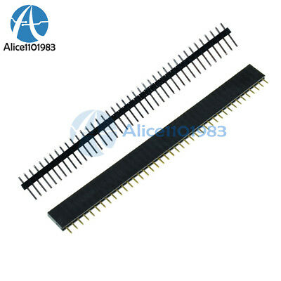 10pcs Male Female 40pin 2.54mm Header Socket Row Strip Pcb Connector Cool