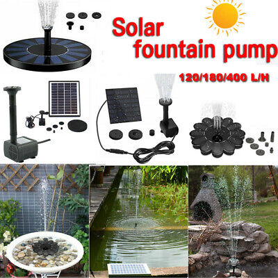 Solar Powered Floating Water Pump Panel Aquarium Garden Pool Pond Fountain Decor