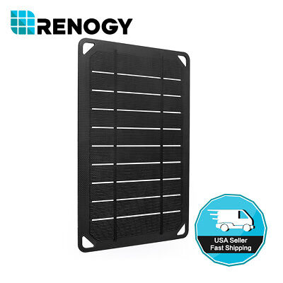 Renogy E.FLEX 5 Watt Mono Solar Panel 5W 5V Portable USB Battery Charger (Outdoor Solar Panels)