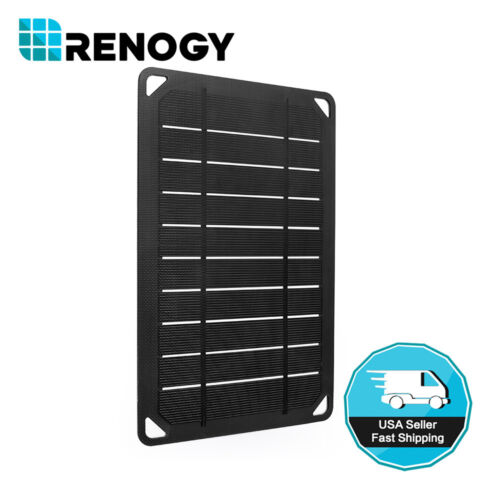 Renogy E.flex 5 Watt Mono Solar Panel 5w 5v Portable Usb Battery Charger Outdoor