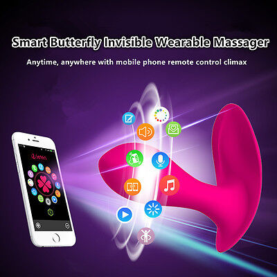 Female Wearable Butterfly Smart Phone APP Remote Control Super Vibrator in Panty