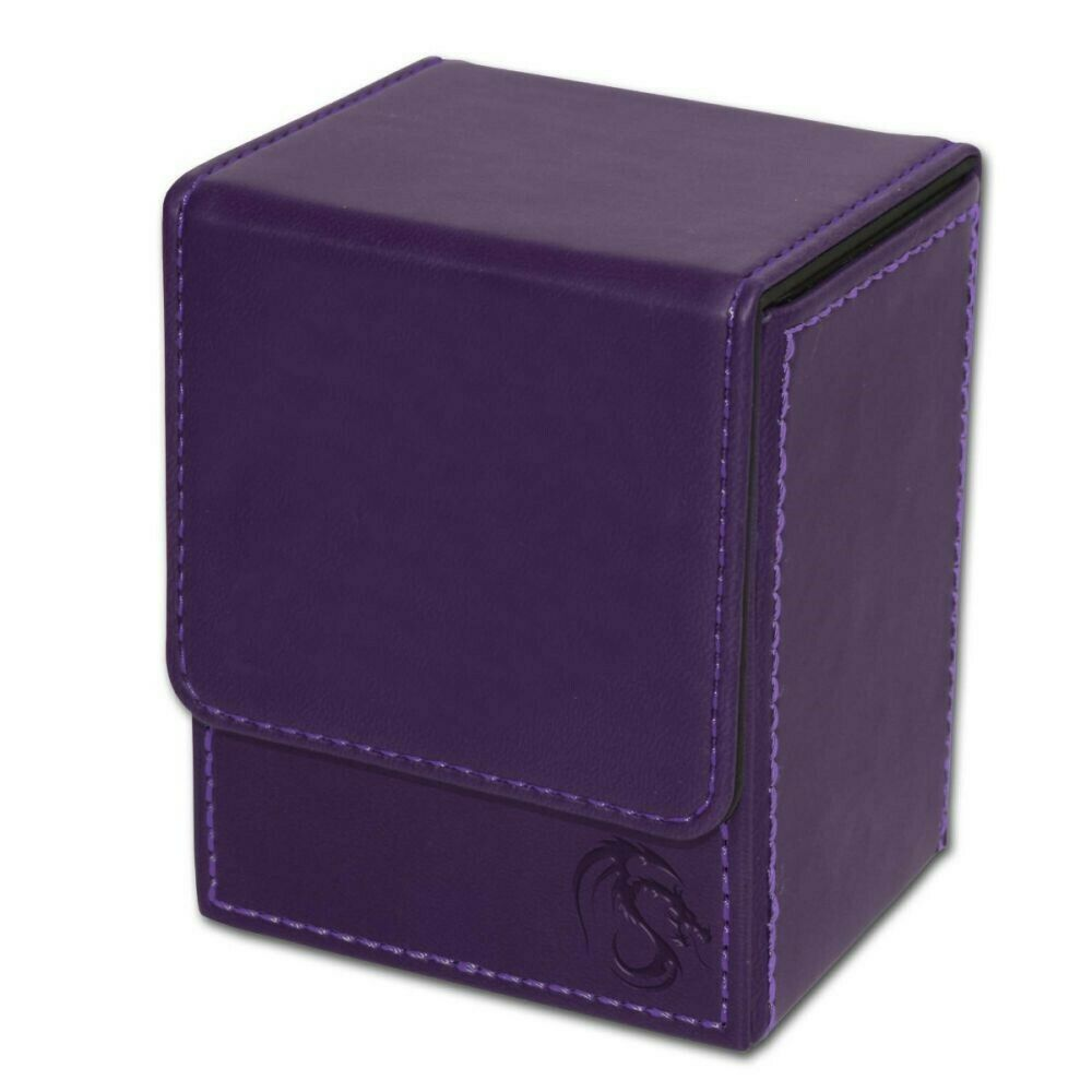 BCW Purple Deck Case LX Gaming Card Leatherette Magic The Ga