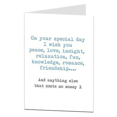 Happy Birthday Card For Brother Sister Best Friend Mate Funny Sarcastic