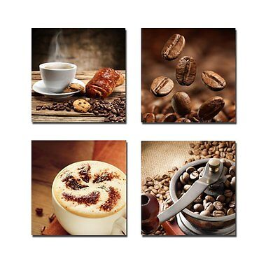 Modern Canvas Prints Painting Pic Poster Wall Home Coffee Cafe Decor 4PC Framed