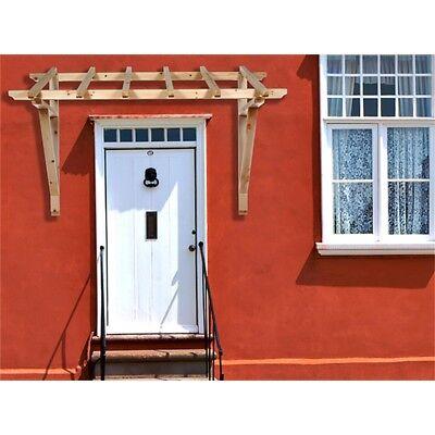 2050 mm Haustürvordach Holz Vordach Pultvordach Haustür Überdachung Türdach