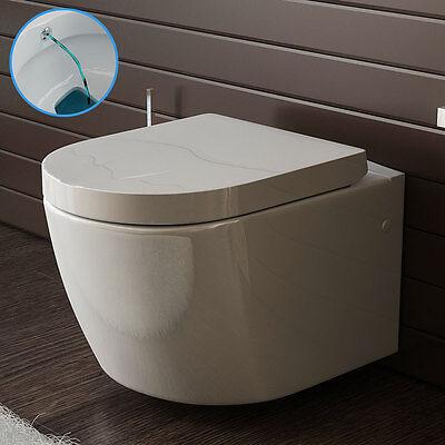 Weiss Keramik Toilette Wand Hänge WC mit Bidet /Taharet Funktion mit Soft-Close