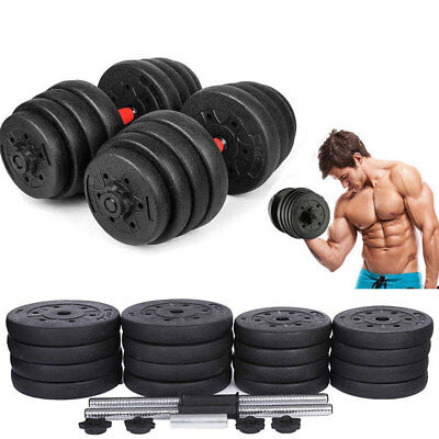 551538d1096 New Weight Dumbbell Set 66 LB Adjustable Cap Gym Barbell Plates Body Workout