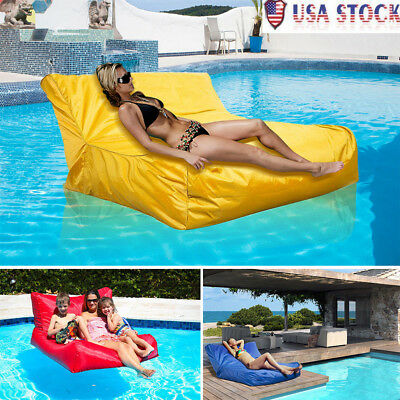 4 Colors Swimming Pool Floating Bean Bag Cover Waterproof Soft Lounge Chair Sofa