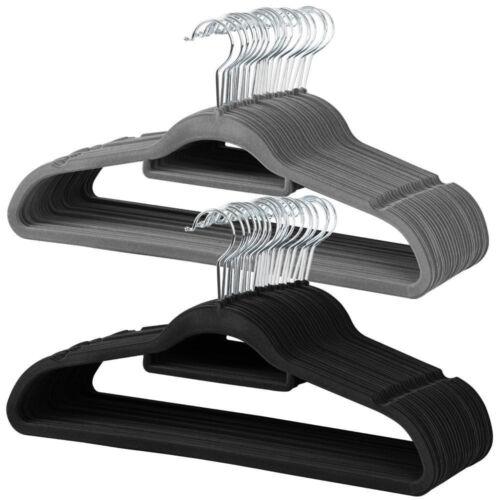 Samt Kleiderbügel Anzugbügel Hemdenbügel Garderobenbügel mit Steg Anti-Rutsch