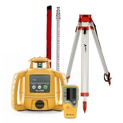 Topcon Rl-h5b Construction Rotary Laser Level W Grade Rod Inch Or 10th Tripod