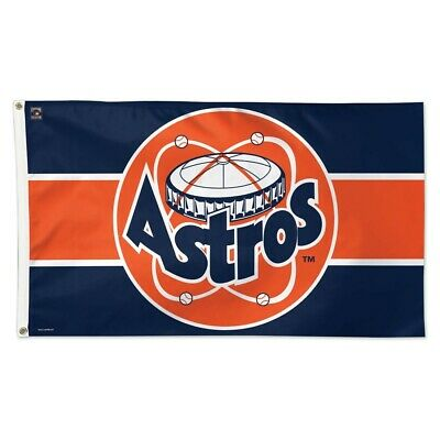 HOUSTON ASTROS COOPERSTOWN COLLECTION 3'X5' DELUXE FLAG BRAND NEW WINCRAFT Houston Astros Cooperstown Collection