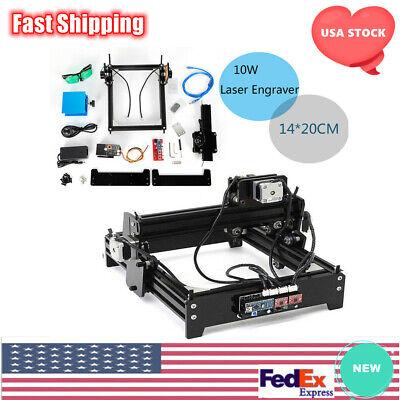 Cnc Laser Engraving Cutting Machine Desktop Engraver Metal Stone Cutter Usb 10w